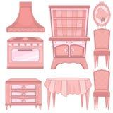 Set Küchenmöbel Stockbilder