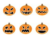 Set Kürbise für Halloween Stockfotos