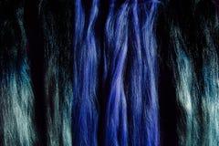 Set kędziorka koloru różne purpurowe włosiane próbki Szamerowanie z syntetycznym purpura koloru kanekalon Obraz Royalty Free