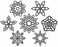 Set kępka projekta geometryczni elementy Ilustracji