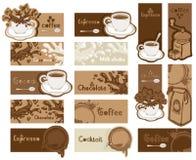 Set Kaffeefahnen Lizenzfreie Abbildung