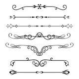 Set kaligraficzni projektów elementy i strona wystrój Zdjęcie Stock