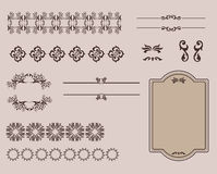 Set Kaligraficzni projektów elementy, strona i Royalty Ilustracja