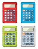 Set kalkulator ikony Fotografia Royalty Free