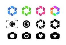 Set kamera obiektyw ilustracji