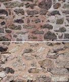 Set kamienni tekstur tła Zdjęcie Royalty Free