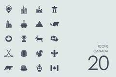 Set Kanada ikony Zdjęcie Stock