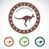 Set of  kangaroo label Royalty Free Stock Images