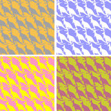 Set Kangaroo seamless pattern. Color texture marsupial animal. O Stock Photo