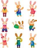 Set Kaninchen Lizenzfreies Stockbild