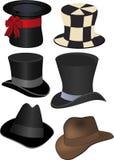 Set kapelusze Zdjęcie Stock
