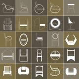 Set karła i krzesła royalty ilustracja