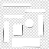 Set karciani sztandary Obraz Royalty Free