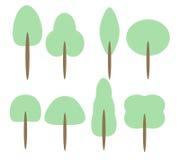 Set Karikatur-Bäume Lizenzfreies Stockfoto