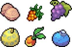 Set karmowe ikony w piksla stylu Zdjęcia Stock