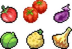 Set karmowe ikony w piksla stylu Obrazy Royalty Free