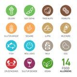 Set karmowi allergens ilustracji