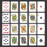 Set karta do gry: Dziesięć, Jack, królowa, królewiątko, as Obraz Royalty Free