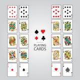 Set karta do gry: Dziesięć, Jack, królowa, królewiątko, as Fotografia Stock