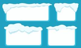 Set kartka z pozdrowieniami z miejscem dla twój teksta royalty ilustracja