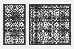 Set karty ciąć Wektorów panel dla laserowego rozcięcia Współczynnika 1:1, 1:2 royalty ilustracja