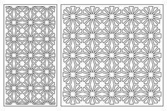 Set karty ciąć Wektorów panel dla laserowego rozcięcia Współczynnika 1:2, 1:1 Rżnięta sylwetka z geometrycznymi wzorami ilustracji