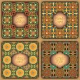 Set karty w rocznika stylu Wektorowi projektów szablony Roczników tła i ramy Zdjęcie Royalty Free