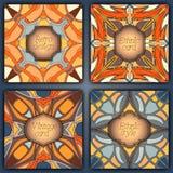 Set karty w rocznika stylu Wektorowi projektów szablony Roczników tła i ramy Fotografia Stock