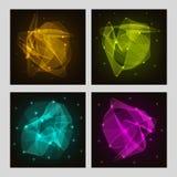 Set karty z kreatywnie abstrakta wzorem Fotografia Royalty Free