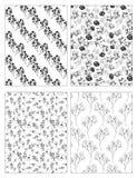 Set karty z Naturalnymi motywami Obraz Stock
