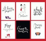 Set karty z tango wycena ilustracja wektor