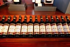 Set of Katogi wines bottles in the wine cellar Royalty Free Stock Photos