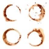 Set kaw plamy dla projekta. ilustracja wektor