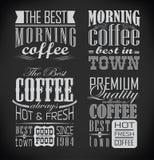 Set kawa, cukierniana etykietka, set typograficzny royalty ilustracja
