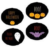Set of 4  kawaii halloween stickers Royalty Free Stock Photo