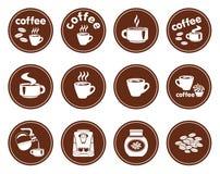 Set kawowe ikony royalty ilustracja