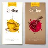 Set kawowy menu Zdjęcie Stock