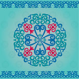 Set Kazakh Asian ornaments and patterns Royalty Free Stock Photography
