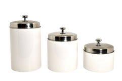 Set Küche-Kanister getrennt Lizenzfreies Stockbild