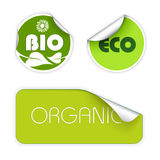 Set Kennsätze für biologisches Lebensmittel Lizenzfreie Stockbilder