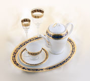 Set keramische und Glastonware Lizenzfreies Stockfoto
