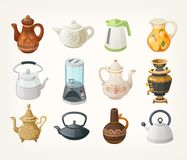 Set of kettles Royalty Free Stock Photography