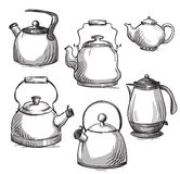 Set of kettles Stock Photo