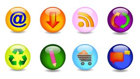 Set with key icons Royalty Free Stock Photos