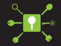 Set of key icons Royalty Free Stock Image