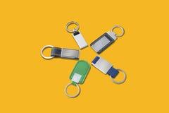 Set of key rings Royalty Free Stock Image