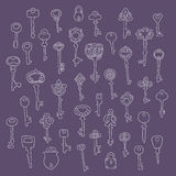 Set of 40 key vector Stock Photography