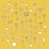 Set of 40 key vector Royalty Free Stock Image