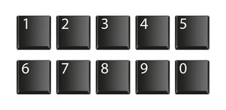 Set of keyboard buttons. Vector illustration Stock Photography