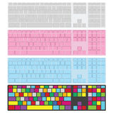 Set of keyboards with blank keys. Illustration suitable for advertising and promotion. Royalty Free Stock Photography